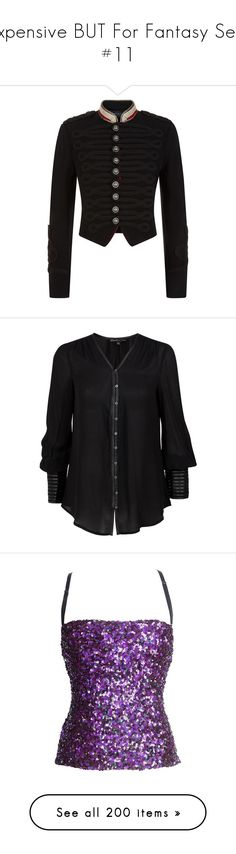 """""""Expensive BUT For Fantasy Sets #11"""" by summersurf2014 ❤ liked on Polyvore featuring outerwear, jackets, military jacket, cropped military jackets, light weight jacket, cropped jacket, military inspired jacket, tops, blouses and shirts"""