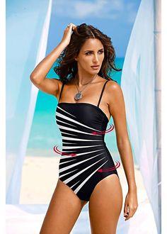 Black & White Zebra Print Shaping Swimsuit