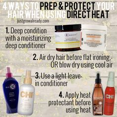4 Ways To Prep & Protect Your Hair When Using Direct Heat | Just Grow Already! |