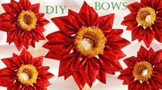 Como hacer Moños flores regalos y decoraciones de Navidad  - Christmas Decorations