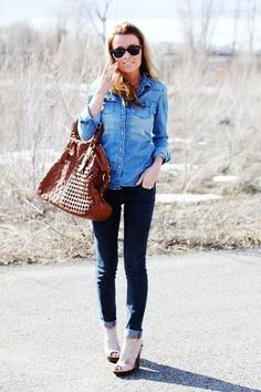 if i could pull off denim like this...