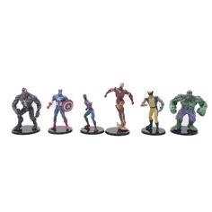 OPP Penjualan Besar Sekarang 6 PCS/Lot Perang Saudara Marvel Avengers Captain America 3 Iron Man Hulk Spiderman Boneka 8 cm PVC Aksi Gambar Mainan