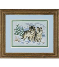 Bucilla Mini Counted Cross Stitch Kit-A Pair of Wolves at Joann.com