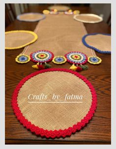 Excited to share this item from my shop: Farmhouse placemat,vintage table placemats,crochet table placemats Crochet Mat, Crochet Table Runner, Table Runner Pattern, Crochet Tablecloth, Farmhouse Table Runners, Burlap Table Runners, Crochet Coaster Pattern, Concrete Crafts, Ramadan Decorations