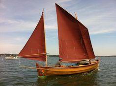 Caledonia Yawl: Tanbark sails, and nice deep yellow hull