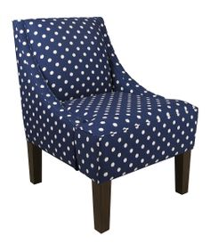 Sunshine Blue Swoop Arm Chair