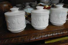 antiguos botes de opalina   www.tiendarustica.com