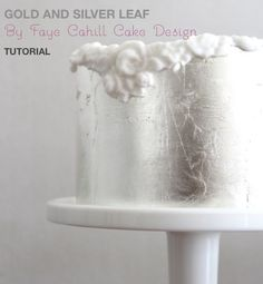 New gold and silver leaf tutorial on Faye Cahill's facebook store