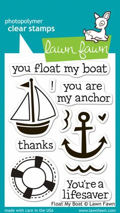New from Lawn Fawn. New for CHA-W 2014. They will have 12 new stamp sets and 15 dies. Float My Boat stamp set.