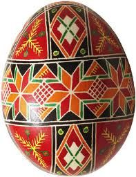 Ukrainian Easter Egg  These are beautiful & painstaking to make. Every symbol has a special meaning. My mom did this when she was young....
