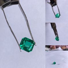 IEEX Emeralds - Exquisite 1.70 carat 'No Oil' Colombian emerald from 'Muzo'. Emerald shape with exceptional cut and clarity. The stone has no treatment what so ever. Video available - enquiries by EMAIL only:  info@ieex.com.co Colombian Emeralds, Clarity, Turquoise Necklace, Artisan, Pendant Necklace, Oil, Shape, Jewels, Diamond