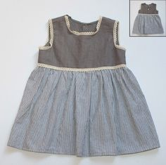 Toddler grey striped dress