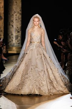 Another amazing gold dress that would be stunning in white. Elie Saab Fall 2012 Couture.