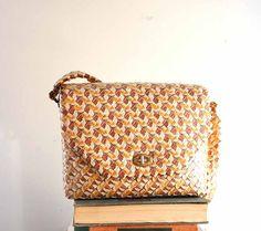 vintage camel wrapper purse  prison art / folk art purse by aorta