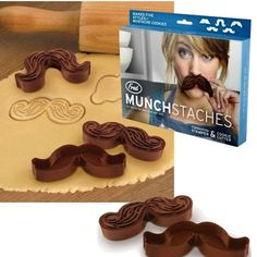 Munstaches Cookie Cutters