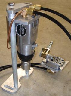 Homemade Power Drawbar For Milling Machine Uses Air