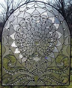 Aphrodite's Valentine Beveled Glass Window Arch