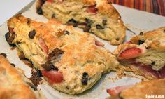 Strawberry chocolate chip buttermilk scones...these sound epically delicious!