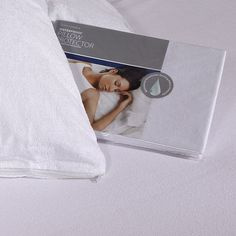 Comfortnights Waterproof Terry Towelling Zipped Pillow Protector