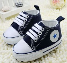 Toddler Baby Boy Girl Navy Soft Sole Crib Shoes Sneaker Age 6-12 Months /C in Clothing, Shoes & Accessories | eBay