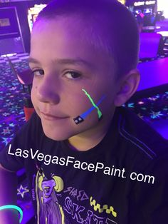 Face Paint 80's roller skating party neon Star Wars light saber LasVegasFacePaint.com