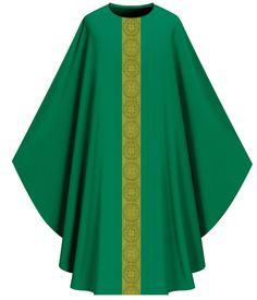 green vestments | ... Clergy Apparel > Vestments > Green Vestments > Slabbinck 1001 Vestment