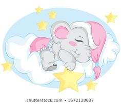 Vetores stock, imagens e arte vetorial de Bebê | Shutterstock Cute Elephant Cartoon, Little Elephant, Cherry Blossom Background, Free Characters, Hello Spring, Baby Scrapbook, Free Baby Stuff, Watercolor Background, Cute Illustration
