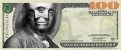 Make your Franklin: artists recreate the hundred dollar bill