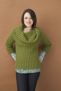 Free Crochet Pattern: Side-To-Side Cowl Neck Sweater - This pattern is great! Its super easy and one you can easily travel with. I did mine on a long weekend.