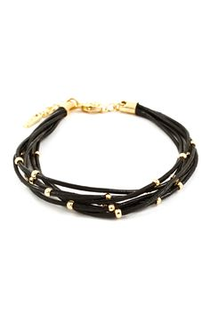Leather Dotti Bracelet on Emma Stine Limited