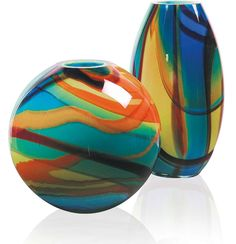 Not sure how much light can get through, but great colors. -- Murano Glass 'Alessandra' Vase
