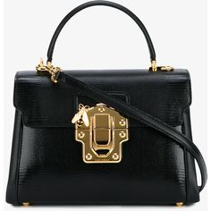 Dolce & Gabbana Textured Leather Lucia Bag ($2,100) ❤ liked on Polyvore featuring bags, handbags, dolce gabbana handbags, hardware bag, top handle bags, top handle handbags and dolce gabbana bags