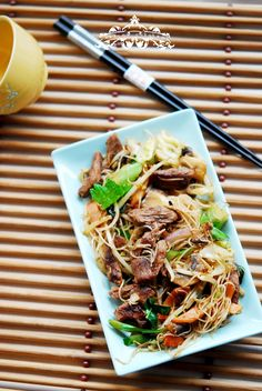 Eileen Cuisine - Beef with rice noodles