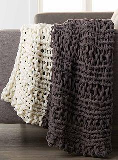 Le jeté tricot géant 130x150 cm | Simons
