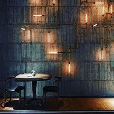 Little Mid Century Modern flavor at RAW restaurant in Taiwan #midcenturymodern #lighting #chairs #taiwan