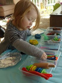 Learn with Play at Home: Multi Material Playdough Exploration