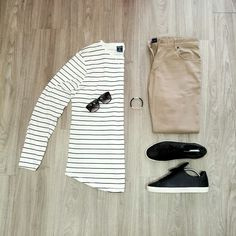 how to wear stripe t shirt for men  #mens #fashion