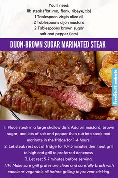 I was so surprised at how much flavor this marinade gave these steaks. A must-try on the BBQ.