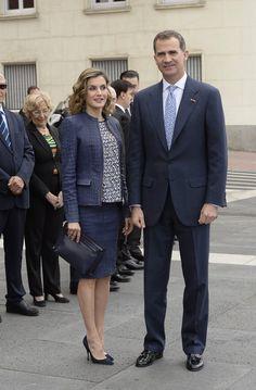 Queen Letizia and King Felipe at El Prado Museum in Madrid.