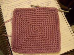 """Family, Books and Crochet...Oh My!: The """"No Holes"""" Sc Square - Free Pattern Square Basket Beginnings"""