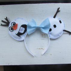 Olaf  Frozen  Minnie Mouse Ears Headband by wondEARful on Etsy, $15.00