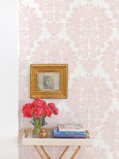 Damask Classic Wallpaper - Peel and Stick - Blush Pink