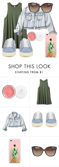 """No makeup"" by makmoky2 ❤ liked on Polyvore featuring RVCA, Hollister Co., Yves Saint Laurent, The Casery and Linda Farrow"