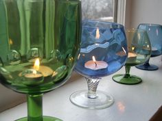 Light: & Repurposing: Wine Glasses...