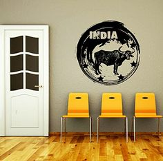 Wall Decals Stamp India Cow Sacred Animal Idnian Fashion Bedroom Vinyl Sticker Wall Decor Murals Wall Decal: Amazon.co.uk: Kitchen & Home