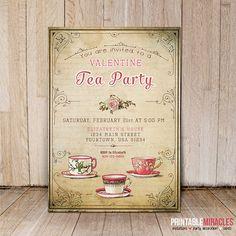 Tiffany Blue Stripes Tea Party Invitation - Bridal Shower ...