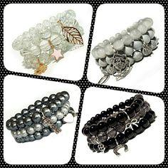 Bransoletki ze szklanych koralików http://pl.dawanda.com/shop/goyavan