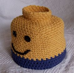Ravelry: Blockhead Man Hat perfect for LEGO Bricks fans crochet pattern by Darleen Hopkins