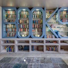 #unifestal Creative Bookshelves, Bookshelf Design, Home Libraries, Home Decor Furniture, Home Interior Design, Decoration, Sweet Home, Room Decor, House Design