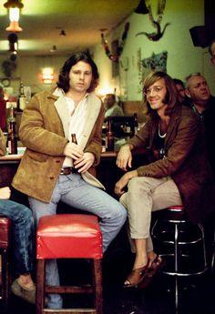 Jim Morrison & Ray Manzarek at the original Hard Rock Cafe, December 1969, by...